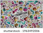 colorful vector hand drawn... | Shutterstock .eps vector #1963492006