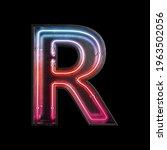 neon light alphabet r with...   Shutterstock . vector #1963502056