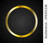 bright vector golden ring logo... | Shutterstock .eps vector #196351136