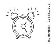 doodle ringing vintage alarm... | Shutterstock .eps vector #1963517926