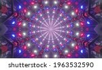 Geometric Tunnel With Colorful...