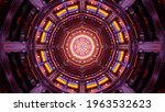 Surreal Geometric Tunnel With...