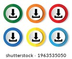 download icon set  vector... | Shutterstock .eps vector #1963535050