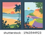 abstract coloful landscape... | Shutterstock .eps vector #1963544923
