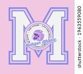 retro college varsity font... | Shutterstock .eps vector #1963559080