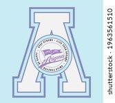 retro college varsity font... | Shutterstock .eps vector #1963561510
