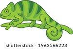 chameleon cartoon vector art... | Shutterstock .eps vector #1963566223