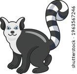 raccoon cartoon vector art and... | Shutterstock .eps vector #1963567246