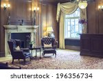 detail of interior in classic...   Shutterstock . vector #196356734