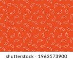 chili doodle pattern wallpaper. ...   Shutterstock .eps vector #1963573900