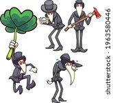 cartoon plague doctor character ... | Shutterstock .eps vector #1963580446