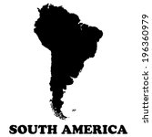 south america map    vector... | Shutterstock .eps vector #196360979