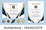 certificate of appreciation... | Shutterstock .eps vector #1963612279