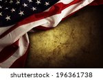 closeup of american flag on... | Shutterstock . vector #196361738