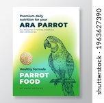 pet bird food product label...   Shutterstock .eps vector #1963627390
