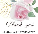 wedding invitation with flowers ... | Shutterstock .eps vector #1963651219