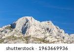 Highest point of the Montagne Sainte-Victoire, near Aix en Provence, France