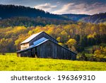 Old Barn And Spring Colors In...