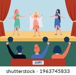 female dancers performing on...   Shutterstock .eps vector #1963745833