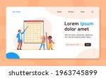 teacher explaining lesson to...   Shutterstock .eps vector #1963745899