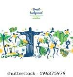 brazil background  | Shutterstock .eps vector #196375979