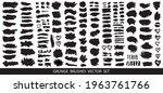 set of black paint  ink brush... | Shutterstock .eps vector #1963761766
