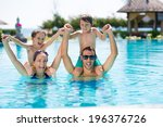 portrait of happy family having ... | Shutterstock . vector #196376726