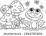 coloring book for children. a... | Shutterstock .eps vector #1963781836