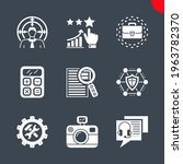 seo related vector glyph icons... | Shutterstock .eps vector #1963782370