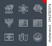 seo related vector line icons... | Shutterstock .eps vector #1963782376