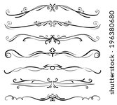 set of vintage vector dividers  ... | Shutterstock .eps vector #196380680