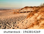 Beautiful Beach With Dunes And...