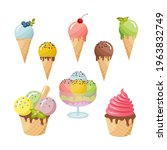 refreshing ice cream with... | Shutterstock .eps vector #1963832749