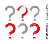 set of hand drawn question mark ... | Shutterstock .eps vector #196383590