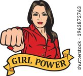 girl power design   woman...   Shutterstock .eps vector #1963872763