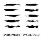 set of vector grunge brushes...   Shutterstock .eps vector #1963878010