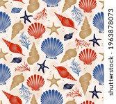 seashell seamless pattern  ... | Shutterstock .eps vector #1963878073
