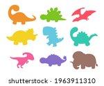 blank baby dinosaur silhouette...   Shutterstock .eps vector #1963911310