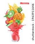 fruit and berries burst. sweet... | Shutterstock .eps vector #1963911646