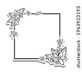 black line flowers leaves cross ... | Shutterstock .eps vector #1963923193