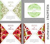 wedding invitation cards with...   Shutterstock . vector #196395356