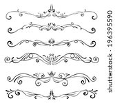 set of vintage vector dividers  ... | Shutterstock .eps vector #196395590