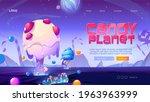 candy planet cartoon landing...   Shutterstock .eps vector #1963963999