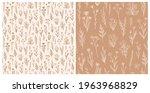 wildflower seamless pattern set ...   Shutterstock .eps vector #1963968829
