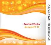 orange background | Shutterstock .eps vector #196399790