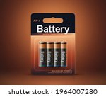 3d aa or aaa battery package... | Shutterstock .eps vector #1964007280