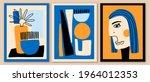 set of abstract art... | Shutterstock .eps vector #1964012353