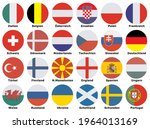 flags of participating teams...   Shutterstock .eps vector #1964013169