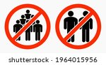 ban on gathering people. do not ... | Shutterstock .eps vector #1964015956