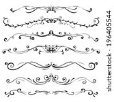 set of vintage vector dividers  ... | Shutterstock .eps vector #196405544